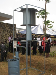 Delegates viewing wind driven pump